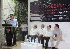 Intercambio cultural en Noche de la Poesía en Yucatán