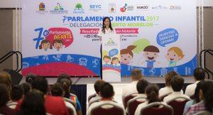 Elige Puerto Morelos a representantes del 7° Parlamento Infantil 2017
