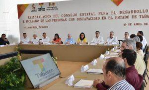 Reinstala Arturo Núñez Jiménez Consejo para inclusión de personas con discapacidad
