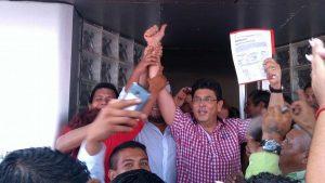 El candidato oficial del PRI-PVEM a la alcaldía de Veracruz, Fidel Kuri