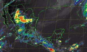 Se pronostican tormentas fuertes en regiones de Tabasco, Veracruz, Puebla y Chiapas