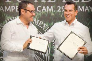 Alejandro Moreno Cárdenas firma convenio con INAFED para impulsar desarrollo armónico