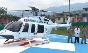 Ambulancia aérea en Chiapas salva la vida de paciente embarazada