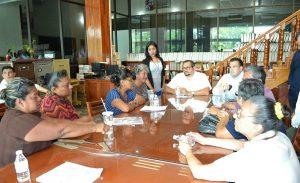 Atienden diputados a ciudadanos de Ejido Pino Suárez piden delimitaciones