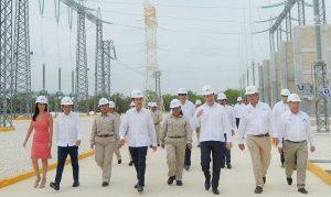 El Presidente EPN entregó subestación eléctrica Rivera Maya en la zona norte de Quintana Roo