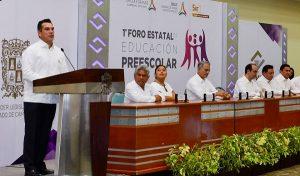 Inaugura Alejandro Moreno Cárdenas, primer Foro estatal de educación preescolar