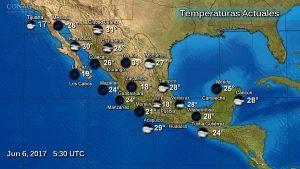 Tormentas muy fuertes y granizo en Guerrero, Oaxaca, Chiapas, Campeche y Yucatán