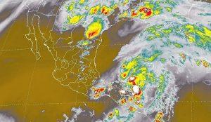 Se pronostican tormentas intensas en zonas de Tabasco, Campeche y Chiapas