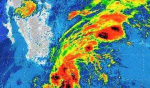 La tormenta tropical Beatriz está en tierra, al norte de Puerto Ángel, Oaxaca