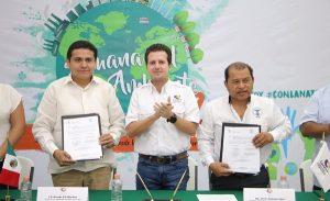 Firma Gaudiano acuerdo de colaboración e inaugura Semana del Medio Ambiente