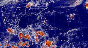 Tormentas intensas con actividad eléctrica se prevé para Guerrero, Oaxaca y Chiapas