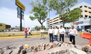 Verifica Gaudiano trabajos para ganar dos carriles en Paseo Tabasco y mover parada de autobuses