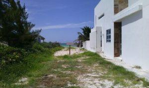 Clausura PROFEPA construcción de un camino de acceso a la playa en Dzemul, Yucatán