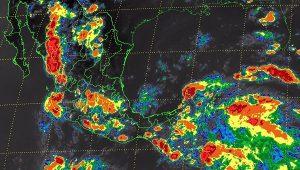 Tormentas muy fuertes para Estado de México, Puebla, Veracruz, el sur y el occidente de México