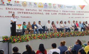 Centro trabajamos por las comunidades indígenas, reafirma Gaudiano