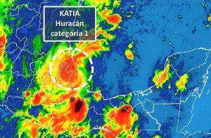 Katia toca tierra en Tecolutla, Veracruz