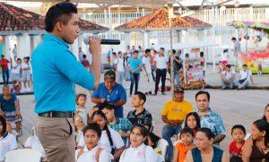 Demuestran sus habilidades habitantes de Tamulté de las Sabanas en «Centro tiene Talento»