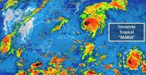 Se desarrolla la tormenta tropical María en el Atlántico