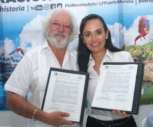 Firma gobierno de Puerto Morelos convenio de beneficio social con Experiencias Xcaret