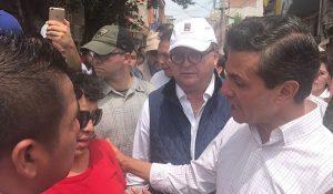 Gobierno de la república solidario con los afectados en Morelos: Peña Nieto