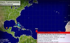 Se convierte «Irma» en huracán categoría 4