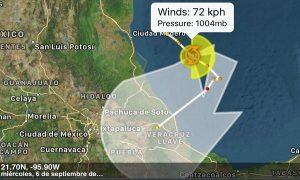 Podría impactar Katia como huracán a Vega de la Torre y Actopan en Veracruz