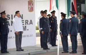 Atestigua Alejandro Moreno Cárdenas toma de posesión del Comandante de la 33ª zona militar