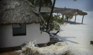 Alertan de marea alta en consta de Campeche