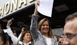 Se registra Margarita Zavala como aspirante a candidatura presidencial independiente