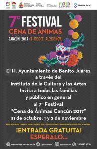 """Invita gobierno municipal a disfrutar del 7° Festival """"Cena de Animas Cancún 2017"""""""