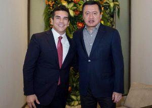 Se reúne Alejandro Moreno Cárdenas con Miguel Ángel Osorio Chong