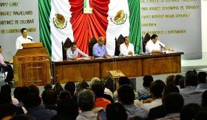 Avance en Cobertura y Calidad educativa expone Solís Carballo ante diputados