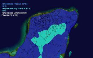 Ingreso de nuevo Frente Frío a partir del jueves en la península de Yucatán
