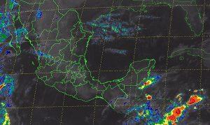 Tiempo estable en la mayor parte de México con probabilidad de tormentas muy fuertes en Chiapas