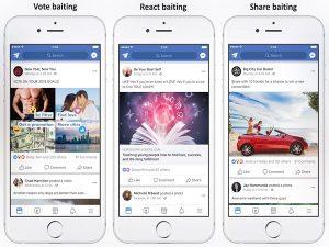 Facebook esconderá y multara publicaciones engañosas
