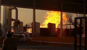 Atiende Pemex incendio en estación de compresión en Tamaulipas