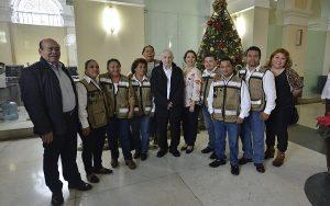 Reconoce Núñez proyecto de voluntarios del CENEPRED