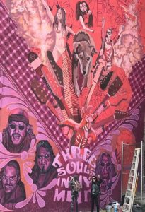 Pintan mural por 50 años de El TRI de México en CDMX