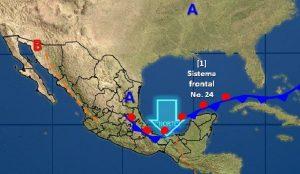 Se prevén nublados densos con tormentas torrenciales e intensas en el sureste de México