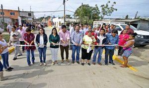 Inaugura Casilda Ruiz calle que une por dentro a zona de Lagunas con Indeco-Ciudad Industrial