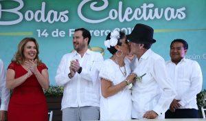 Da Cancún certeza jurídica a 265 parejas