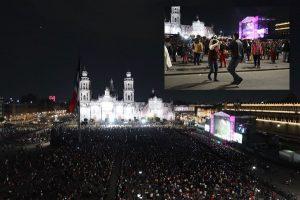 Disfrutan 80 mil personas concierto de cumbia en Zócalo de la CDMX