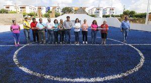 Inaugura Casilda Ruiz dos canchas de fútbol rápido en fraccionamiento Blancas Mariposas