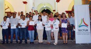 Entrega SECTUR constancias a prestadores de servicios turísticos de Ciudad del Carmen