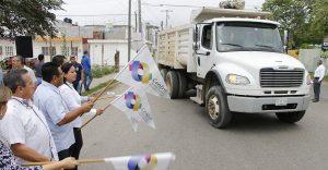 Da Casilda Ruiz banderazo de inicio a trabajos del Programa de Bacheo Emergente
