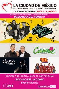 Concierto gratuito este domingo en el Zócalo capitalino