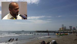 Falso que el mar se haya retirado de playas de Boca del Río: Protección Civil