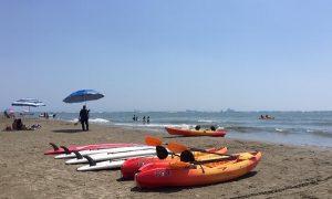 Actividades acuáticas disfrutan turistas en playas de Boca del Río, Veracruz