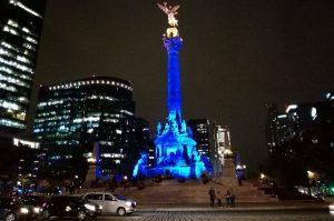 CDMX se ilumina de azul