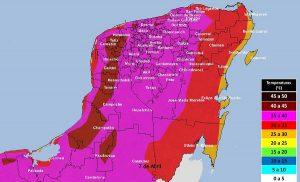 Se pronostican temperaturas calurosas para los próximos días en la Península de Yucatán